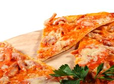 Free Slice Of Meat Pizza Stock Photography - 8099342