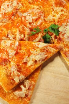Free Slice Of Meat Pizza Royalty Free Stock Photo - 8099345