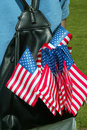 Free American Flags In A Backpack Stock Photos - 815873