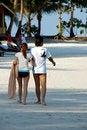 Free Copule Strolling On Beach Stock Photos - 817063
