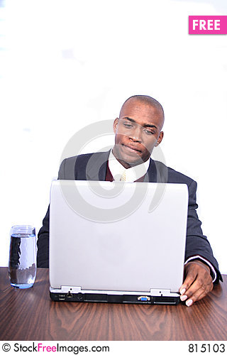 African Amrican Business Man Stock Photo