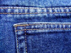 Free Blue Jeans Detail Royalty Free Stock Images - 810379