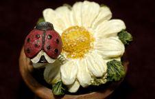 Free Ceramic Ladybug Royalty Free Stock Photography - 811397