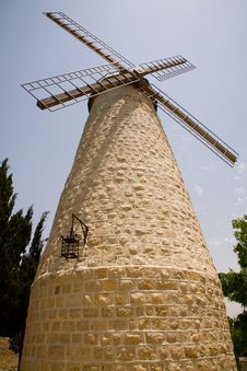 Free Montefiore Windmill In Jerusalem Stock Image - 811611
