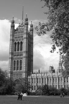 Free Houses Of Parliament In Black & White Stock Images - 812004