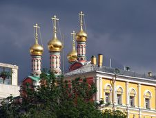 Free Domes Of Moscow Cremlin Stock Photo - 812160