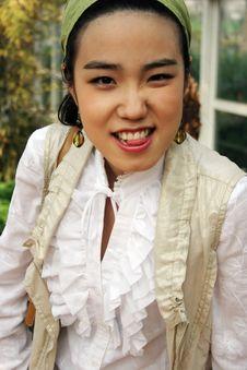 Free Beautiful Korean Girl Royalty Free Stock Photography - 813017
