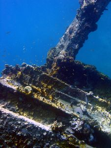 Ship Wreck Virgin Islands, Caribbean Royalty Free Stock Photo