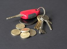 Free Keys And Coins Stock Photography - 813612