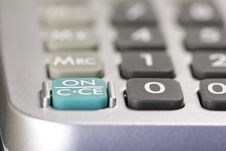 Free ON Switch Of A Desk-top Calculator 02 Royalty Free Stock Image - 813896