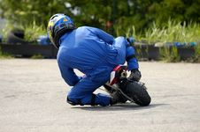 Free Minibike Racing Royalty Free Stock Photo - 814815