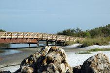 Free Beach Bridge Royalty Free Stock Image - 815626