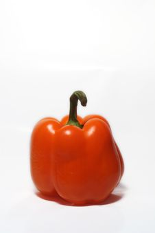 Orange Bell Pepper Stock Photo
