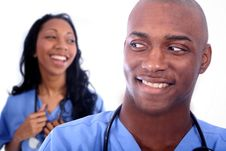 Free Man And Woman Medical Field Royalty Free Stock Image - 815896