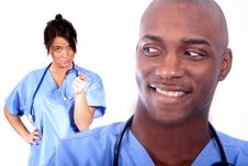 Free Man And Woman Medical Field Stock Photography - 815902
