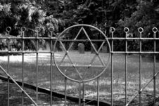 Entrance Of A Jewish Cementery Stock Images