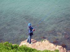 Free Man Fishing Stock Photo - 816280