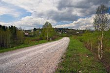 Free Country Road And Blue Sky. Sibir. Stock Photo - 816630
