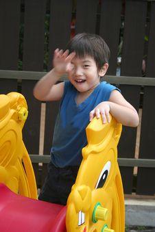 Free Boy On The Slide Stock Photo - 816940