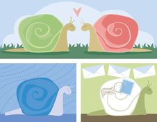 Free Snail Scenes Royalty Free Stock Image - 818256