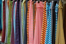 Free Color Line Clothes Royalty Free Stock Image - 819426