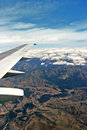 Free Airplane Over Cloudy Sky Vertical Royalty Free Stock Photography - 8101147