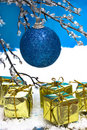 Free Blue Christmas Ball Stock Images - 8103114
