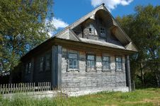 Free Old Farmer S House In Russian Village Stock Image - 8100841
