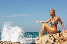 Free Blond Mermaid Stock Images - 8101074