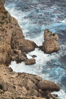 Coast Of The Spanish Island Of Majorca Stock Photography