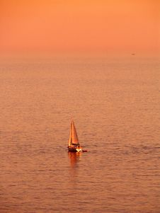 Free Sailing At Sunset Stock Photos - 8101103
