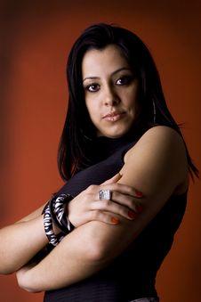Free Beautiful Brunette Businesswoman Royalty Free Stock Photography - 8101247