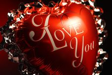 Free I Love You Balloon Royalty Free Stock Images - 8101389