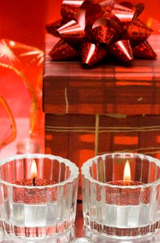 Free Festive Candles Royalty Free Stock Photos - 8101448