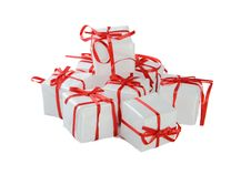 Free White Presents With Red Ribbon Royalty Free Stock Images - 8101759