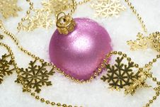 Pink Festive Decoration Stock Image