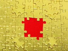 Free Gold Jigsaw Puzzle Stock Images - 8101774