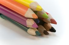 Free Colored Pencil Crayons Royalty Free Stock Photo - 8101995