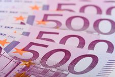 Free 500 Euro Banknotes Stock Images - 8102034