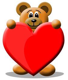 Free Love Bear Royalty Free Stock Photography - 8102117