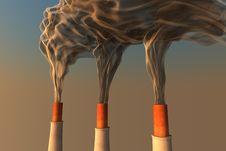 Free Smoking Chimneys Royalty Free Stock Photos - 8102618