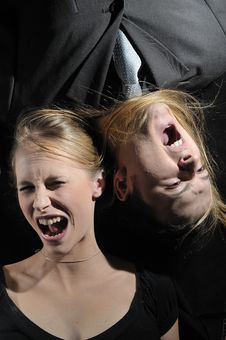 Free SCREAMING COUPLE Stock Photos - 8102813