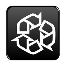 Free Recycle Web Button Royalty Free Stock Photos - 8102828