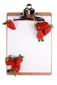 Free Strawberries On Clipboard Royalty Free Stock Images - 8102839