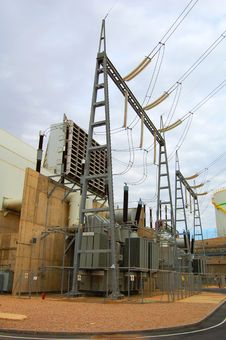 Free Power Plant Transformer Royalty Free Stock Image - 8103236