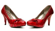 Free Red Womanish Shoes Stock Photo - 8103790