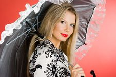 Free Girl With Umbrella Stock Photos - 8104283