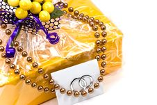 Free A Gift Box With Pearls Royalty Free Stock Photo - 8105065