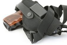 Pistol And Holster Stock Photos