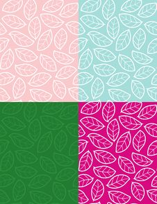 Free Spring Leaves - Seamless Pasttern Stock Photo - 8106080